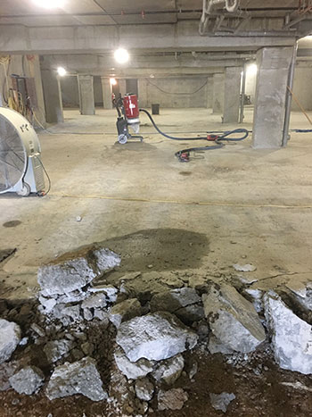 Quick, safe concrete floor demolition, Winnipeg